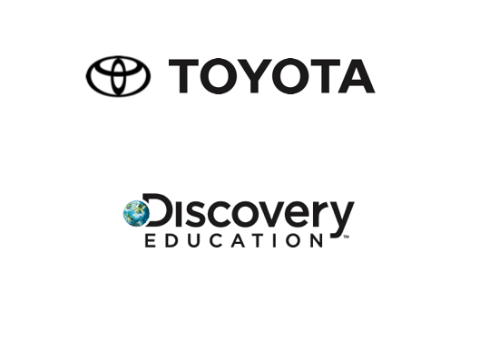 Discovery Education and Toyota Logos